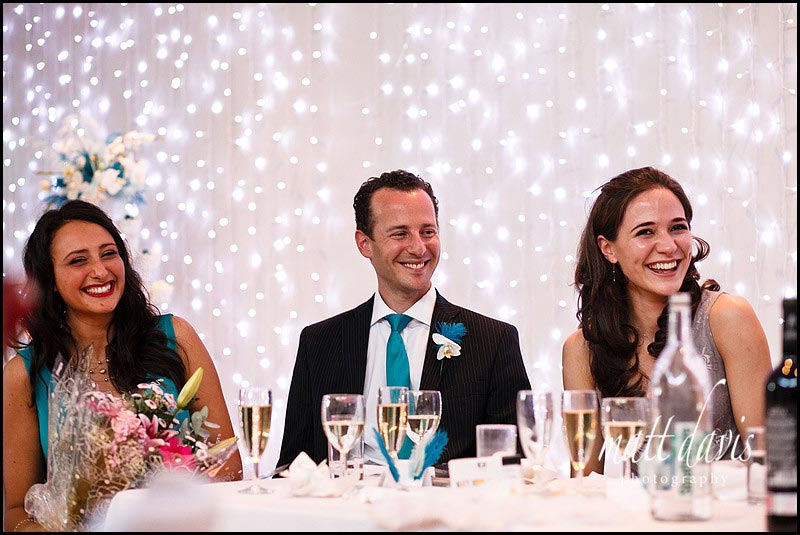 Guests laughing during speeches at Matara wedding
