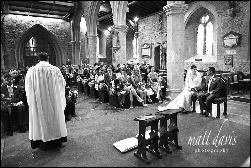 wedding photo at St Mary's Church, Prestbury, Cheltenham