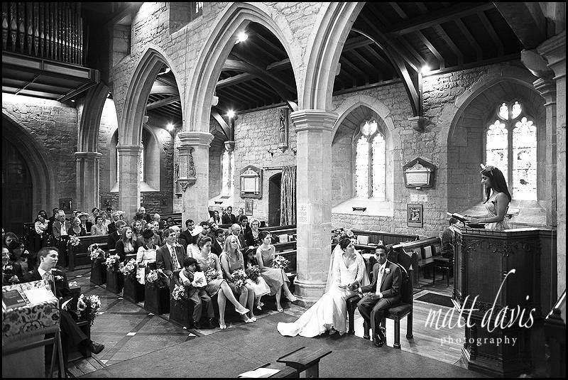 wedding at St Mary's Church Cheltenham