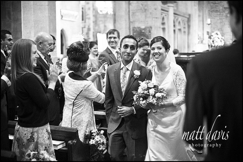 Wedding couple in Cheltenham church