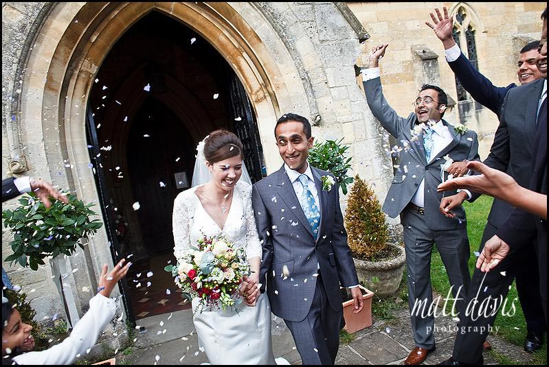 Confetti at St Mary's Church, Prestbury, Cheltenham