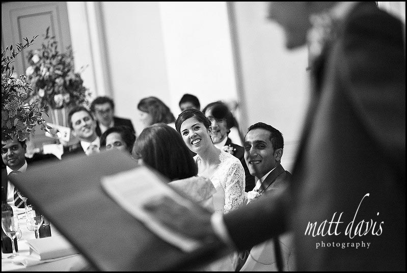 Wedding speeches at Pittville Pump Room