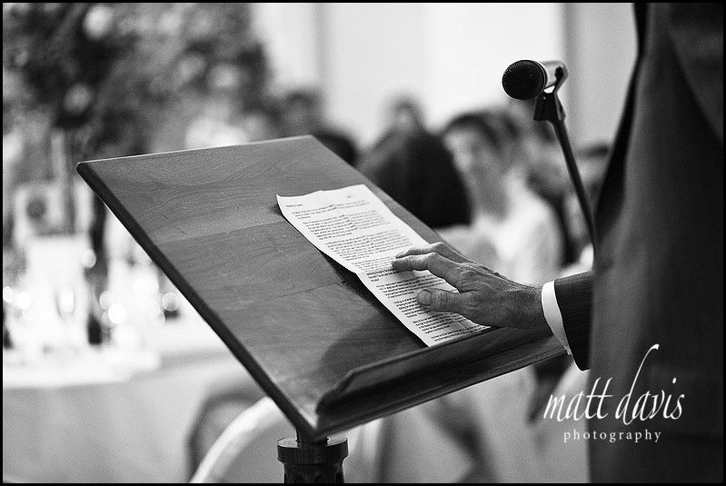 Detail photo of wedding speech