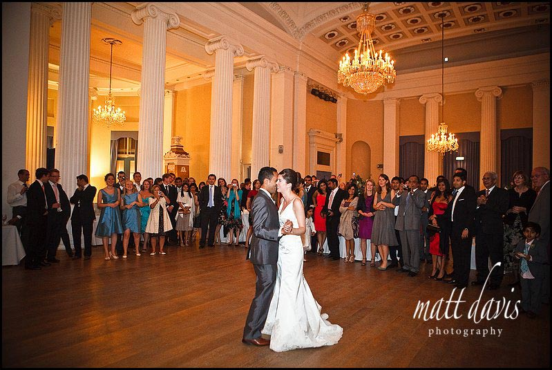 The dance floor at Pittville Pump Room for a wedding