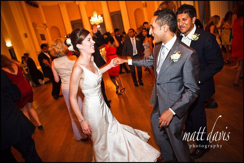 Pittville Pump Room dance floor wedding photos