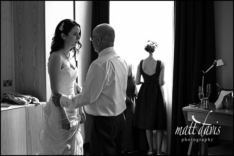 A hard moment for bride before wedding