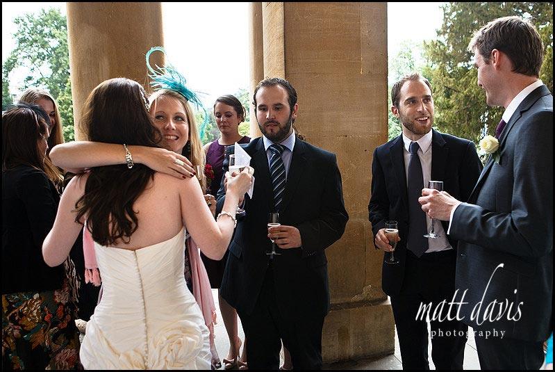 Drinks reception at Pittville pump room wedding