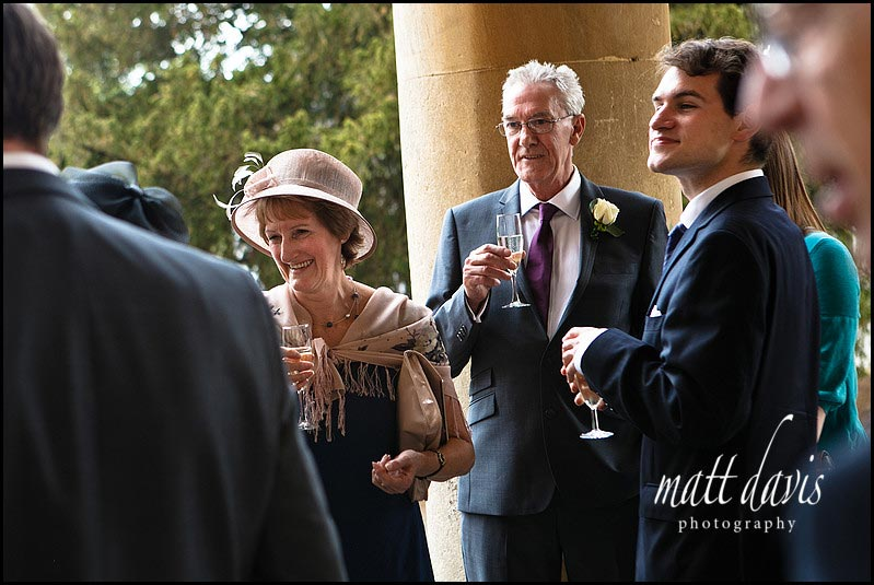 Pittville pump room wedding guests outside