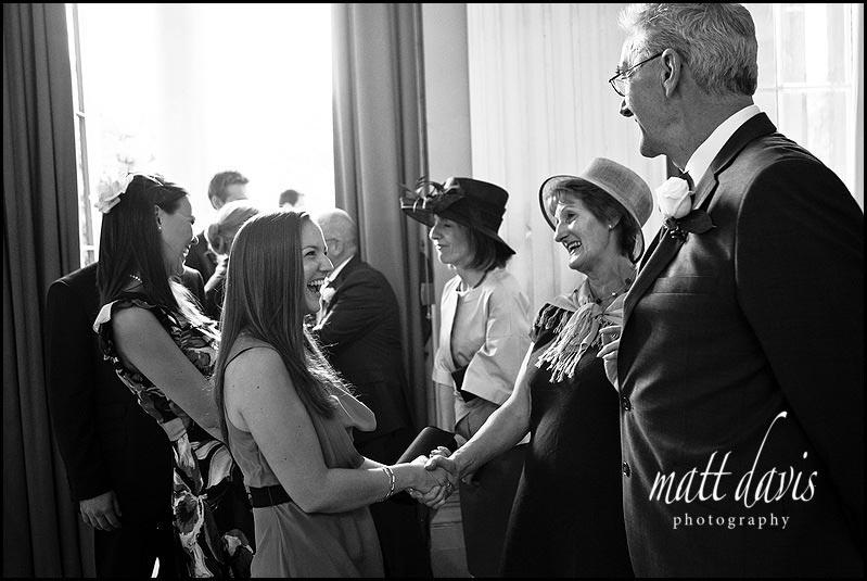 wedding receiving line Pittville pump room