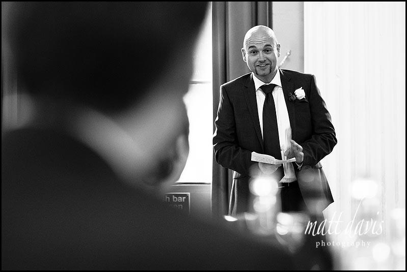 Wedding speeches at Pittville pump room