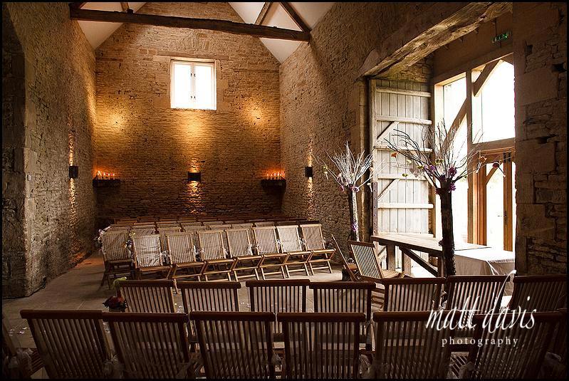 wedding photo inside Cripps Stone Barn Aldsworth