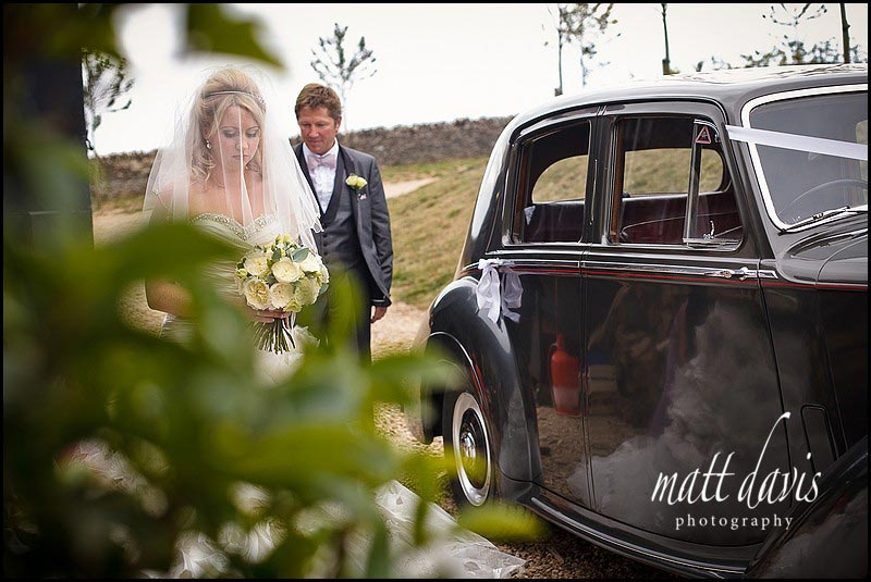 Wedding car at Stone Barn Aldsworth