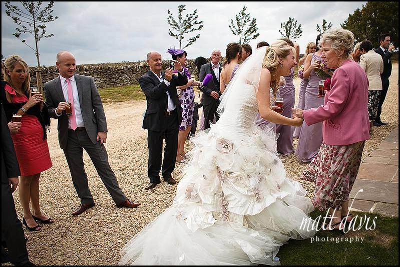 Candid wedding photos at Stone Barn