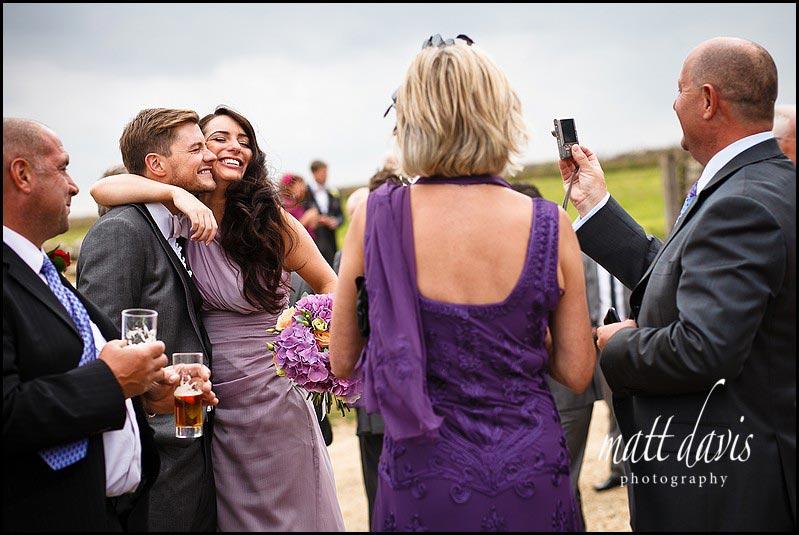 Natural wedding photography at Stone Barn
