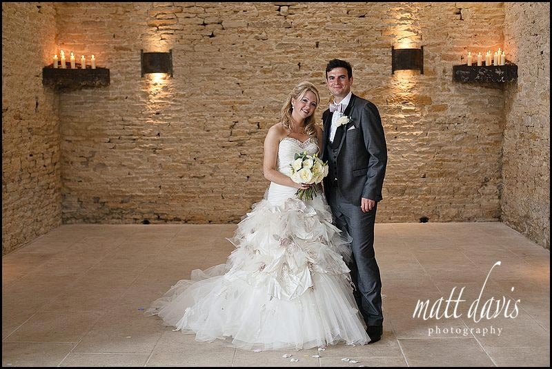 Stone Barn wedding photos of couple