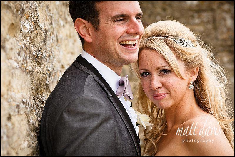 Stone Barn wedding photos of married couple