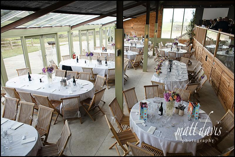 Cripps Stone Barn set ready for the wedding breakfast