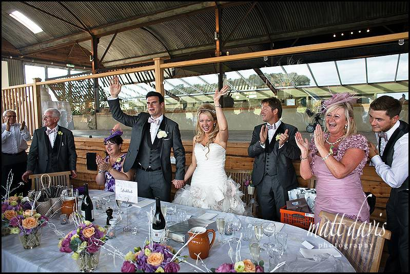 Wedding speeches at Cripps Stone Barn