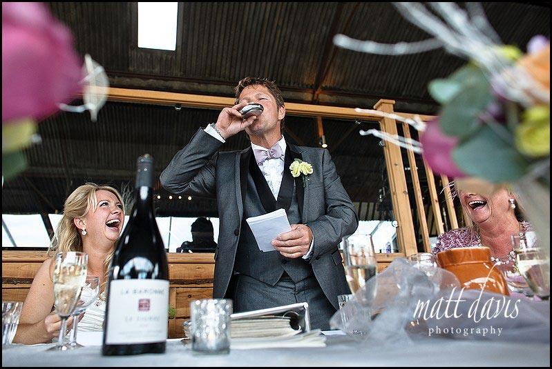 Stone Barn wedding photos of speeches