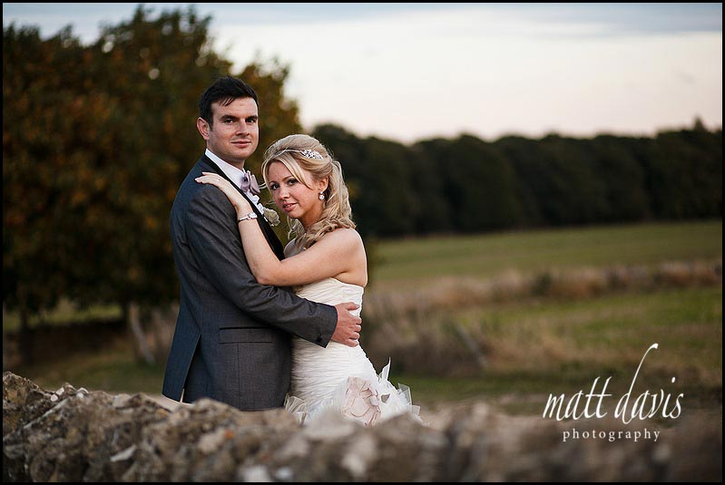 Couple portraits in the evening at Aldsworth Stone Barn
