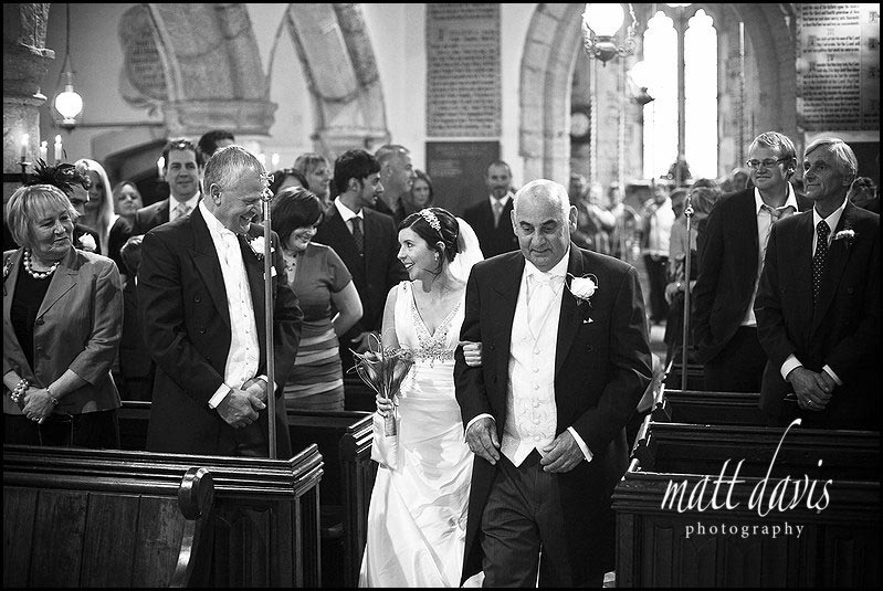 wedding photos inside Ashleworth Church, Gloucestershire