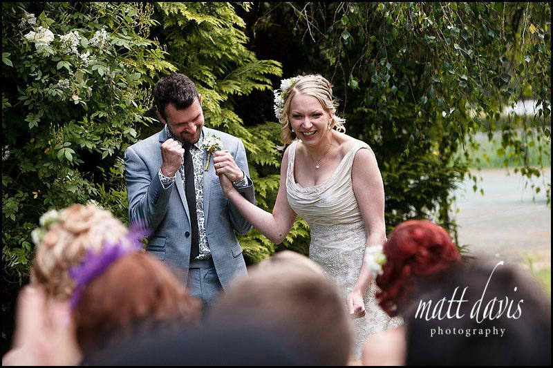 outdoor wedding at Friars Court