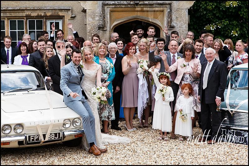 group shot of Vintage wedding at Friars Court