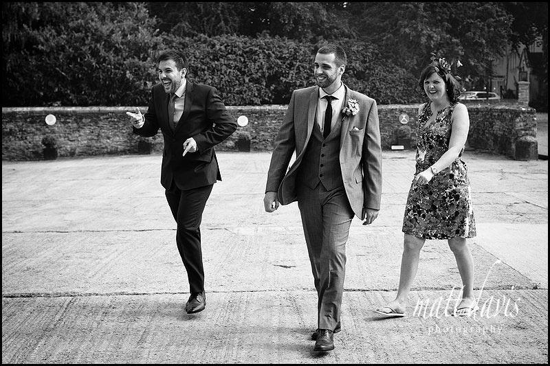 ushers at a wedding