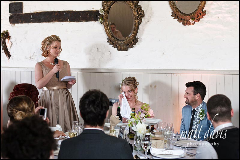 speeches in the barn at Friars Court