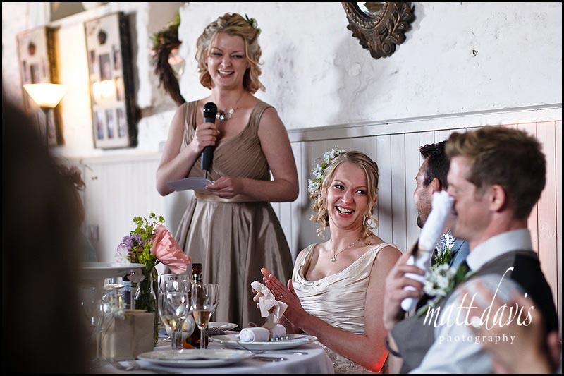 wedding speeches at Friars Court