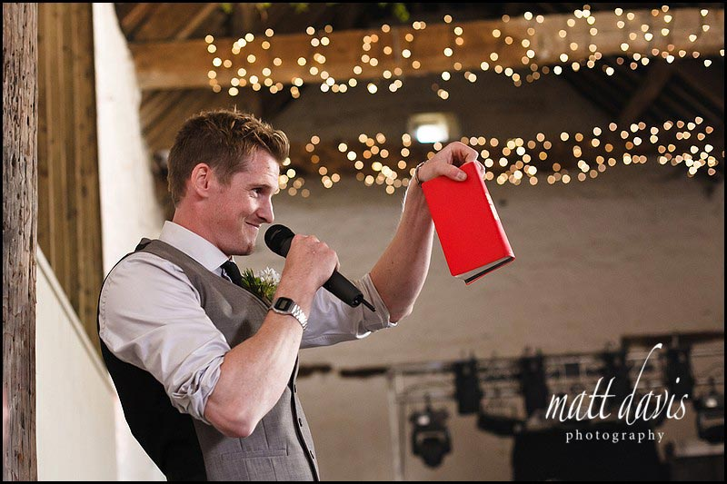 best man props for wedding speeches at Friars Court