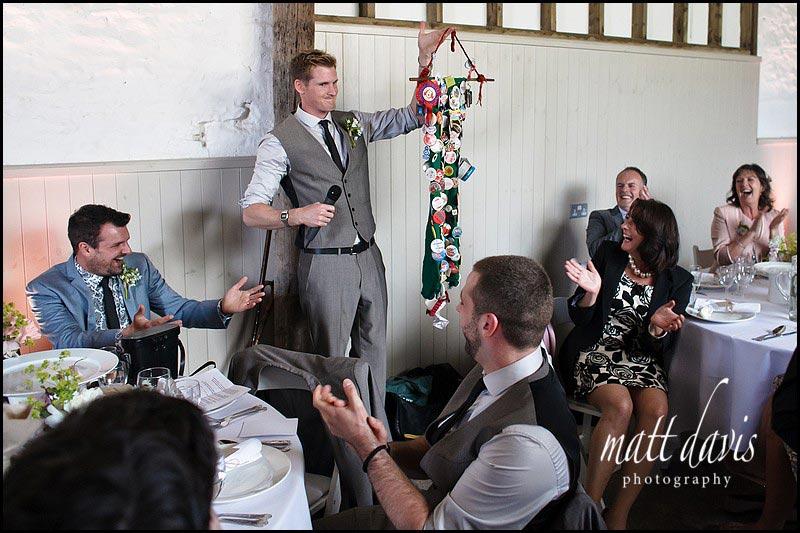 best man props for wedding speech at Friars Court