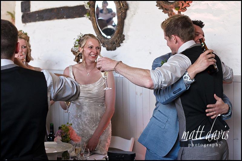 documentary wedding photos at Friars Court