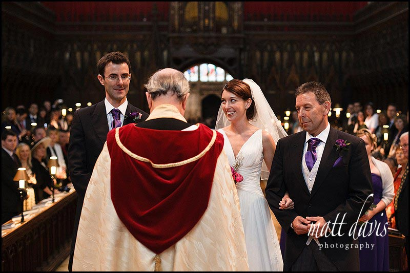 wedding ceremony at Gloucester Cathedral