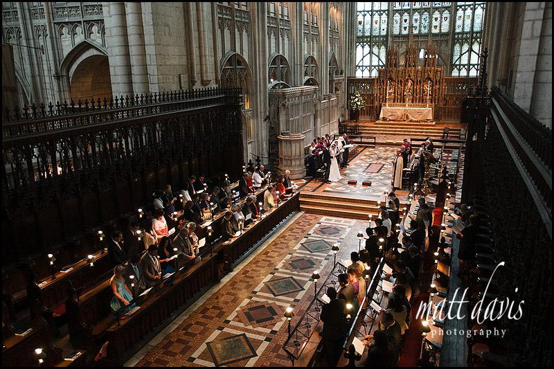 wedding being held at Gloucester Cathedral