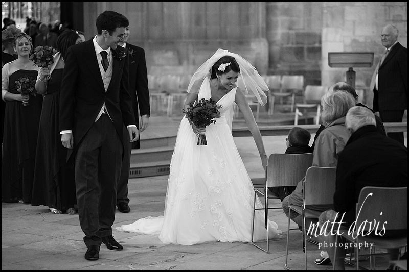 documentary wedding photography at Gloucester Cathedral wedding