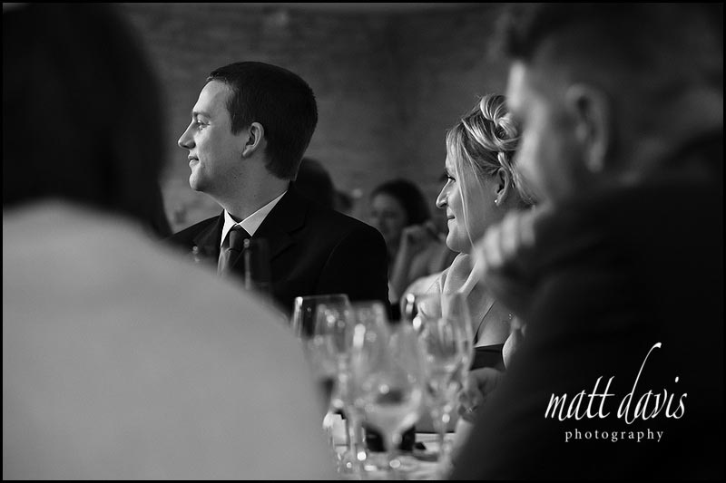 documentary photography of wedding guests at Kingscote Barn