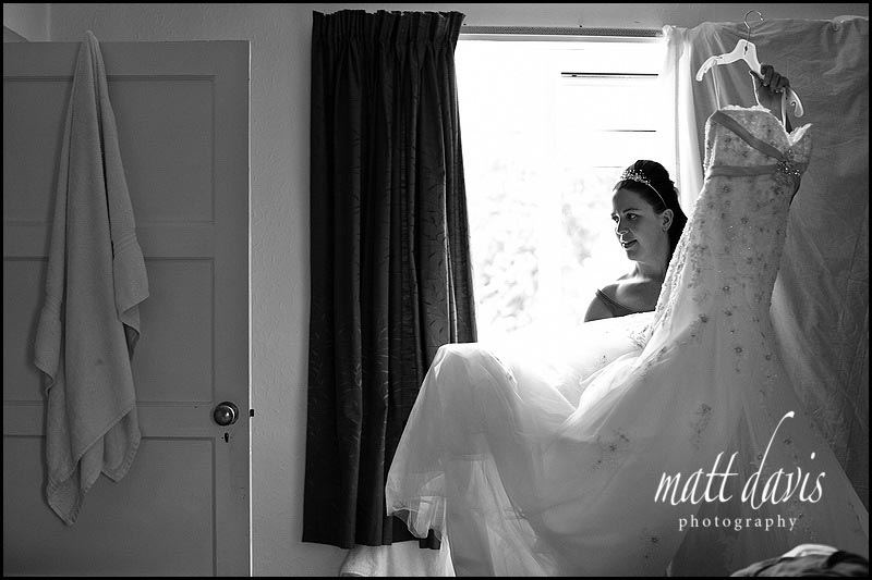Wedding photography of wedding dress in Cheltenham Gloucestershire