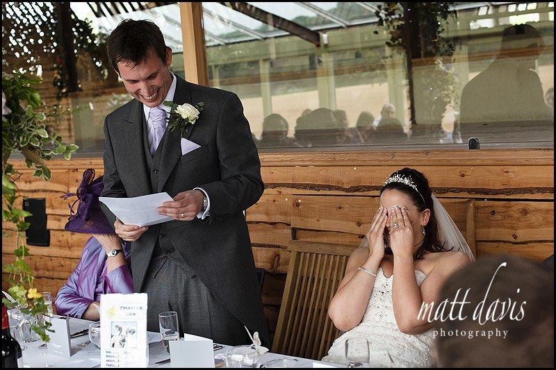 Wedding speeches at Cripps Stone Barn Gloucestershire