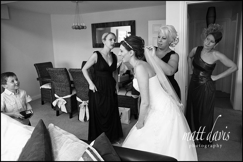 Wedding bridal preps in Gloucestershire