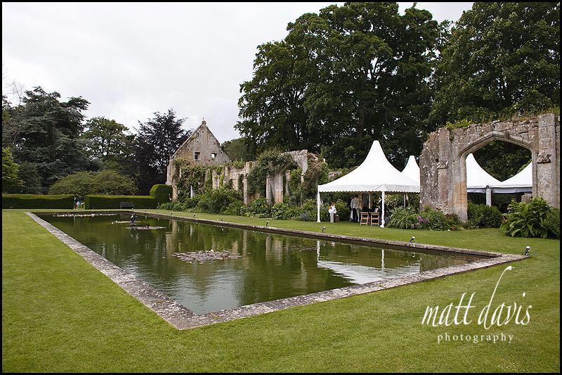 Sudeley Castle outdoor wedding venue The Tithe Barn