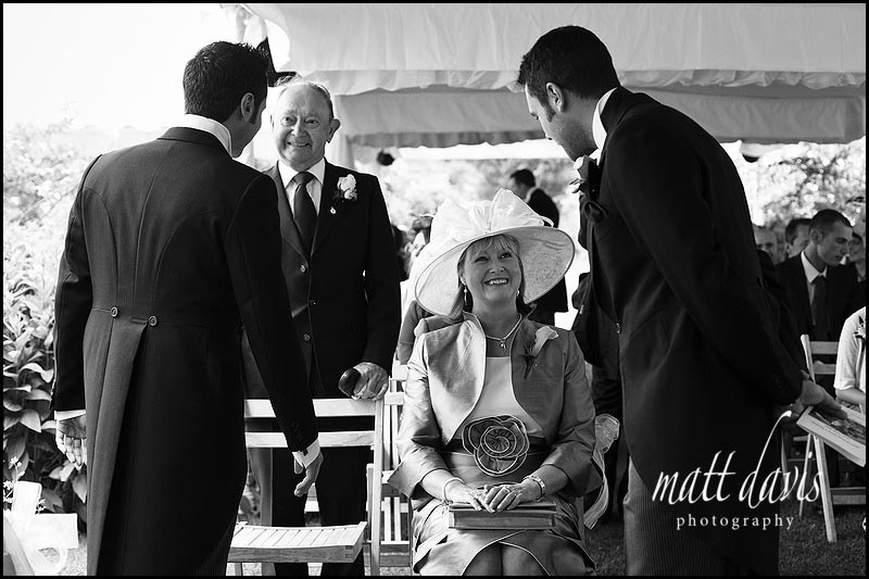 Wedding guests at Sudeley castle