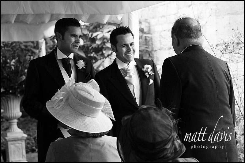 Groom and Best Man at Sudeley castle wedding