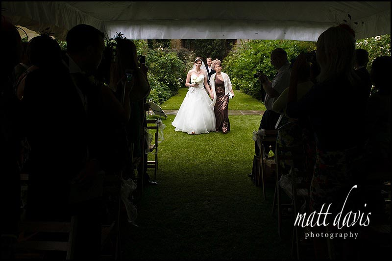 Sudeley Castle outdoor wedding in the The Tithe Barn