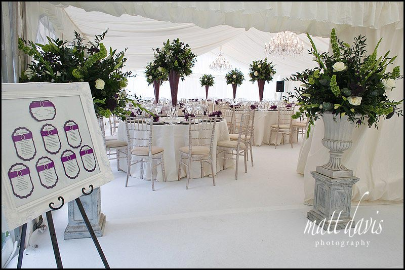 marquee wedding at Sudeley Castle