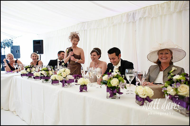 Wedding speeches at Sudeley Castle