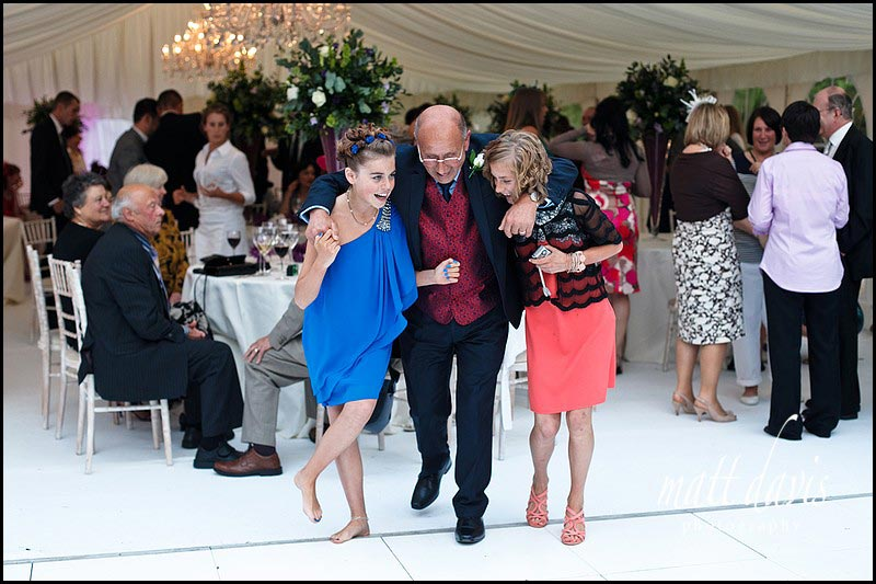 wedding guests on the Dance floor at Sudeley Castle