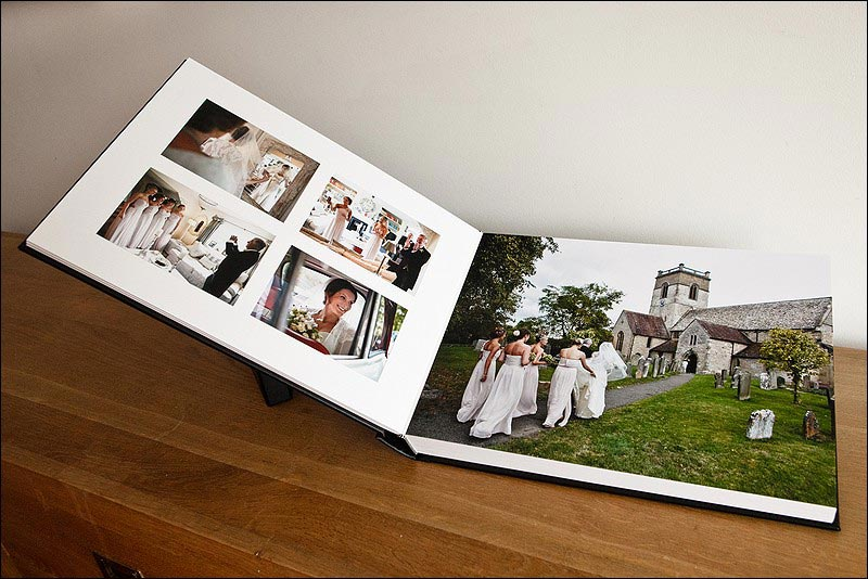 Matted wedding album with ful page bleed
