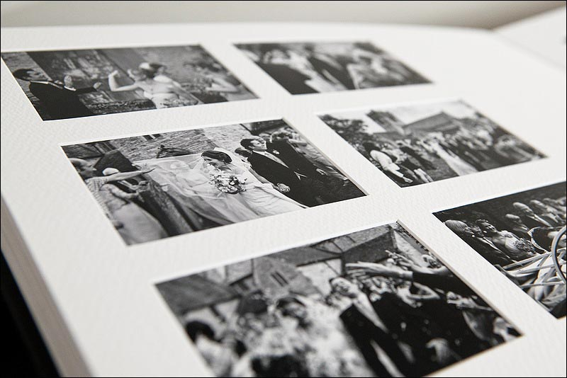 Wedding album options - Matted album