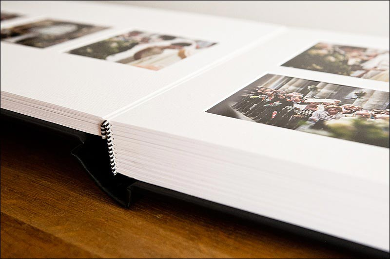 Wedding albums - Matted album construction